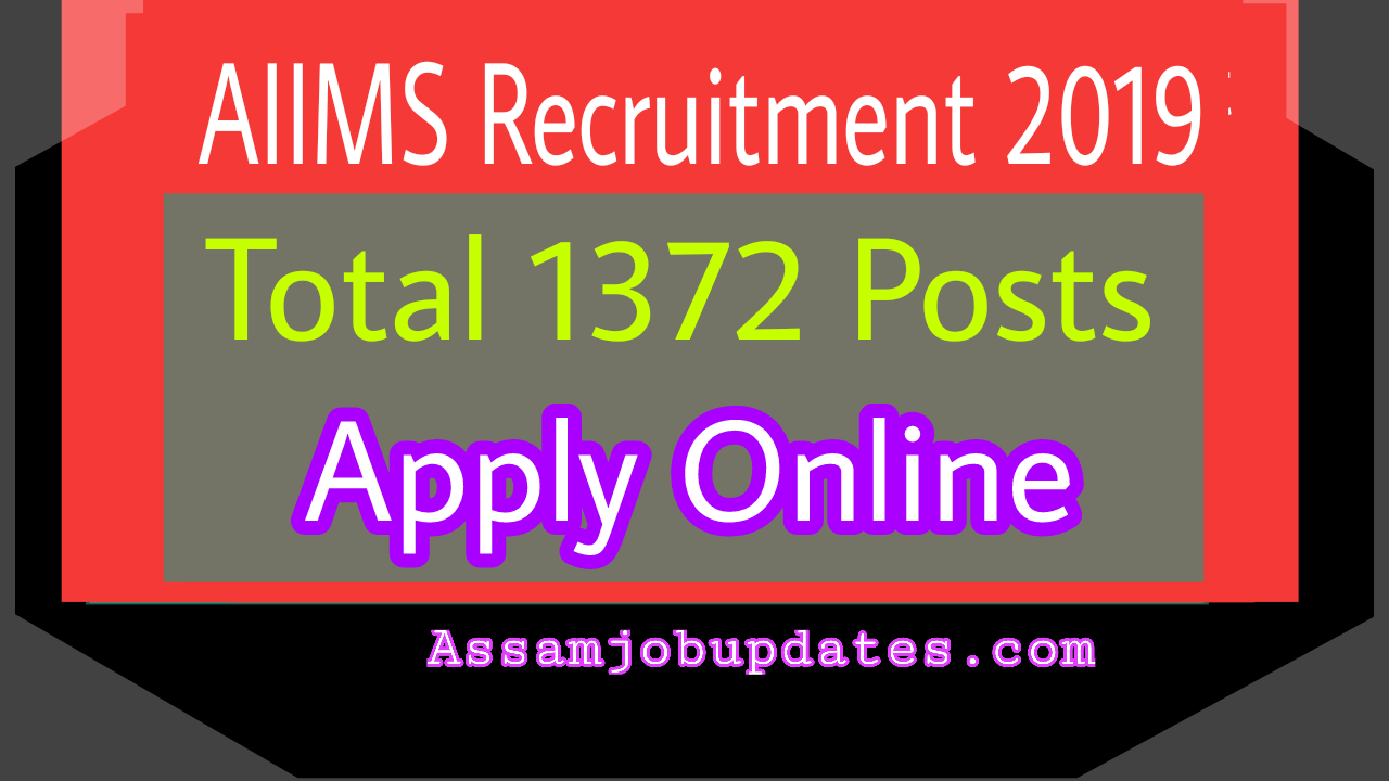 AIIMS Recruitment 2019 post of Nursing Officer Total 1372 posts