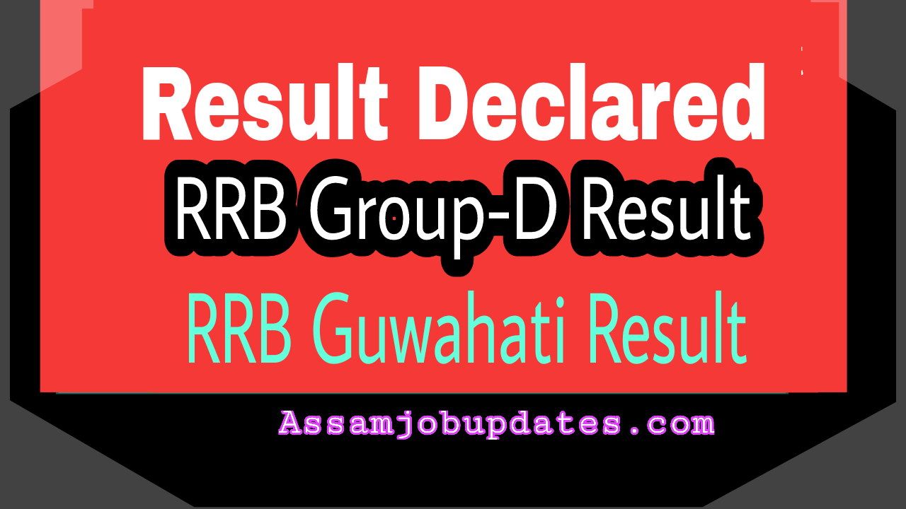 RRB Group D Result Declared Check Now
