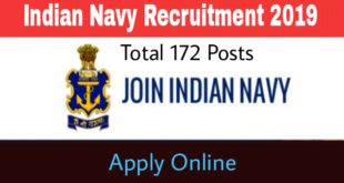 Online Application are invited by Indian Navy post of Chargeman. Total 172 posts