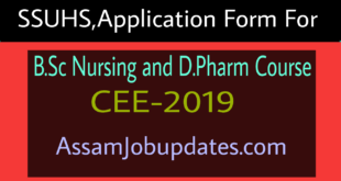 Admission into B.Sc Nursing and D.Pharm Course 2019