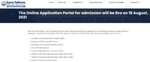 Dibrugarh University Admission 2021
