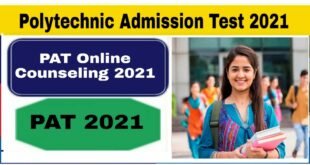 Polytechnic Admission Test Online Counseling 2021